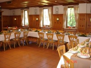 Die rustikale Gaststätte